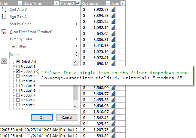 VBA AutoFilter Code to Filter for Single Item in Filter Drop-down Menu