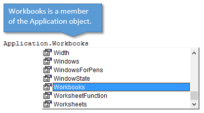 Workbooks Member of Application Object - Intro to VBA