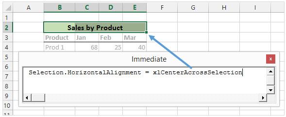 Выполняем строку кода в VBA Immediate Window