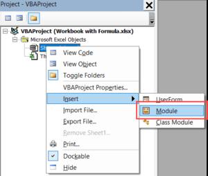Saving a Custom Function code in the module