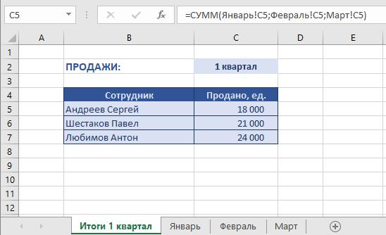 Как посчитать сумму с нескольких листов с 3D графиком