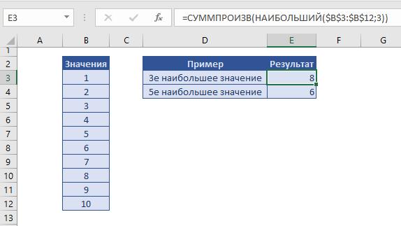 Сумма n наименьших или наибольших значений