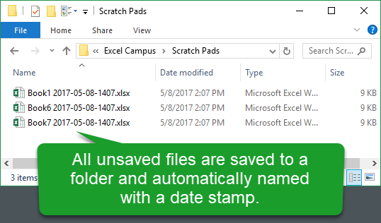 Unsaved Files Save to a Folder and Automatically Named