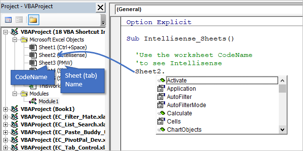 Intellisense for Sheet CodeName