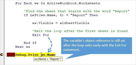 Циклы For Next и For Each для VBA и Excel