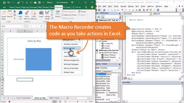 Macro Recorder Creates VBA Code as you take Action in Excel