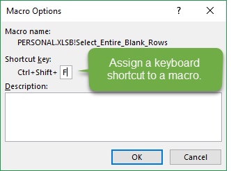 Assign a Keyboard Shortcut to a Macro