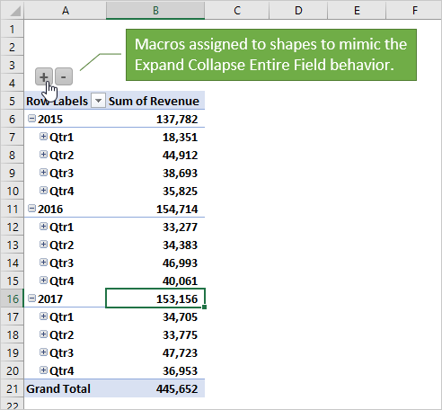 Macros Assigned to Shapes to Expand Collapse Entire Pivot Field