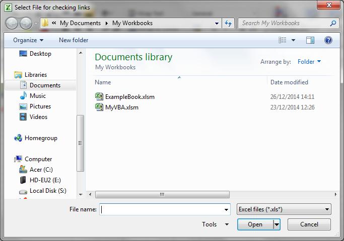 FileDialog VBA Workbook