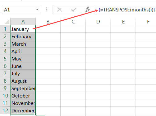 getting a vertical array of values from a VBA function