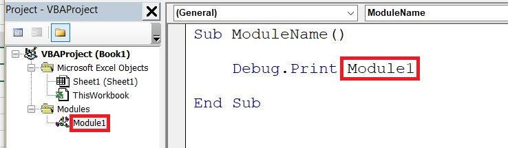 VBA Type Mismatch Module Name