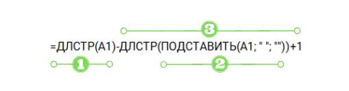 Разделение формулы на части