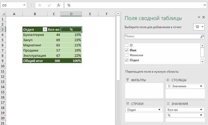 Как добавить поле более одного раза в сводную таблицу?
