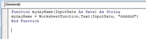 после написания кода для использования в пользовательской функции vba